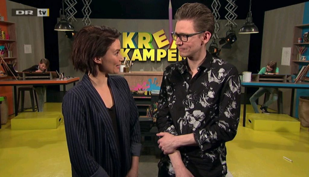 Sofie Østergaard og Palle Schmidt i Krea-kampen på DR Ultra
